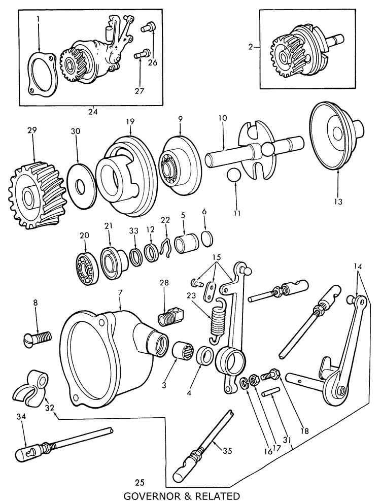 ford 9n tractor parts drawings