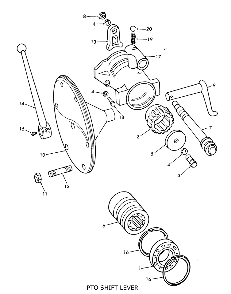 9n Tractor Parts Diagram : Ford n pto shift lever fork related