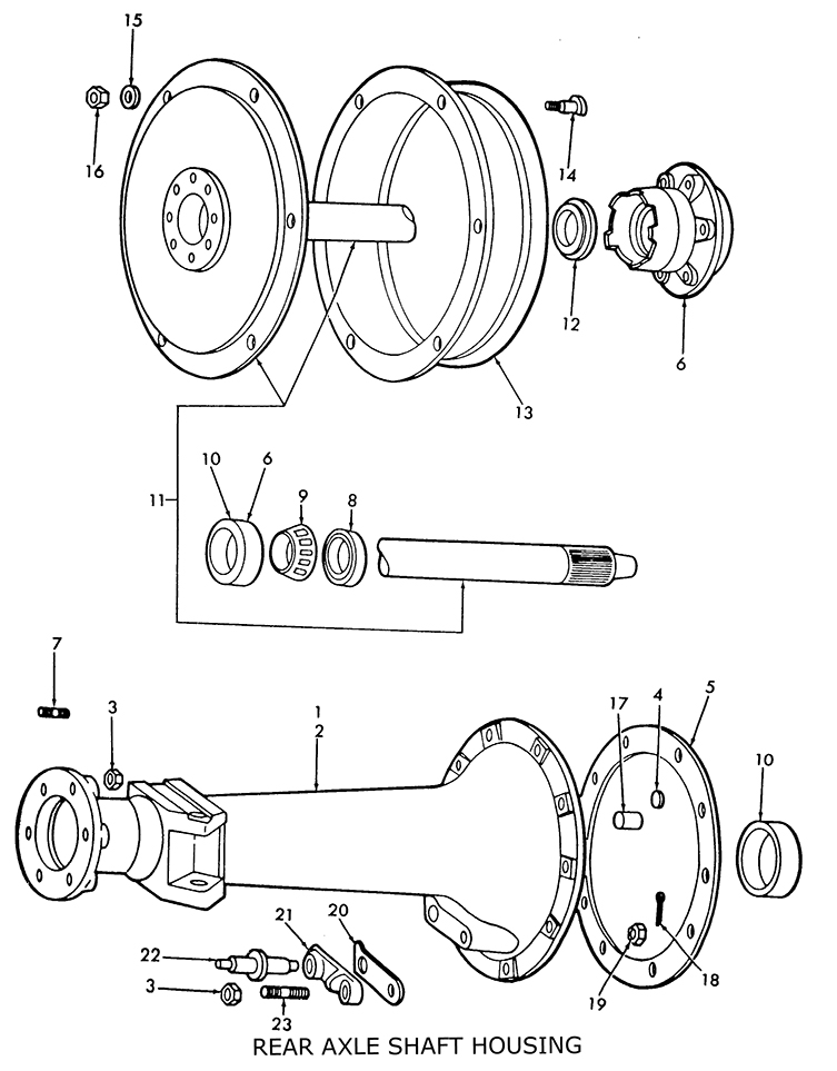 9n Tractor Parts Diagram : Ford n rear axle shaft housing related