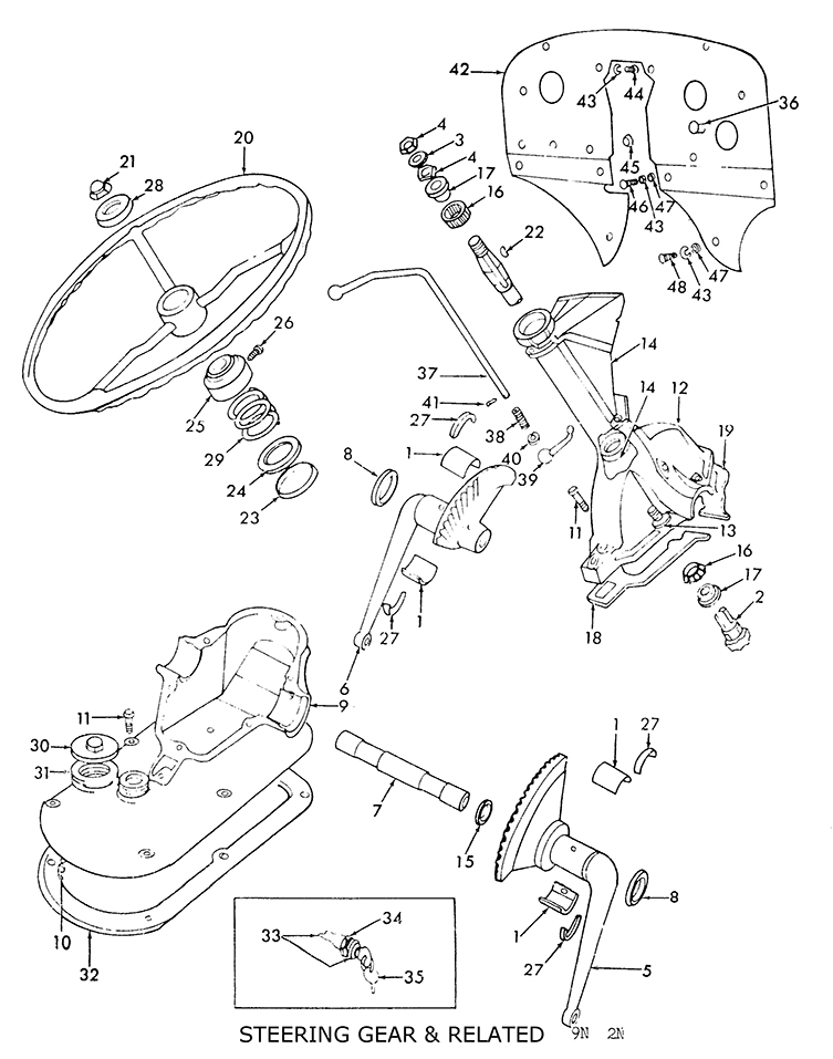 9n Tractor Parts Diagram : Ford n tractor steering box diagram imageresizertool