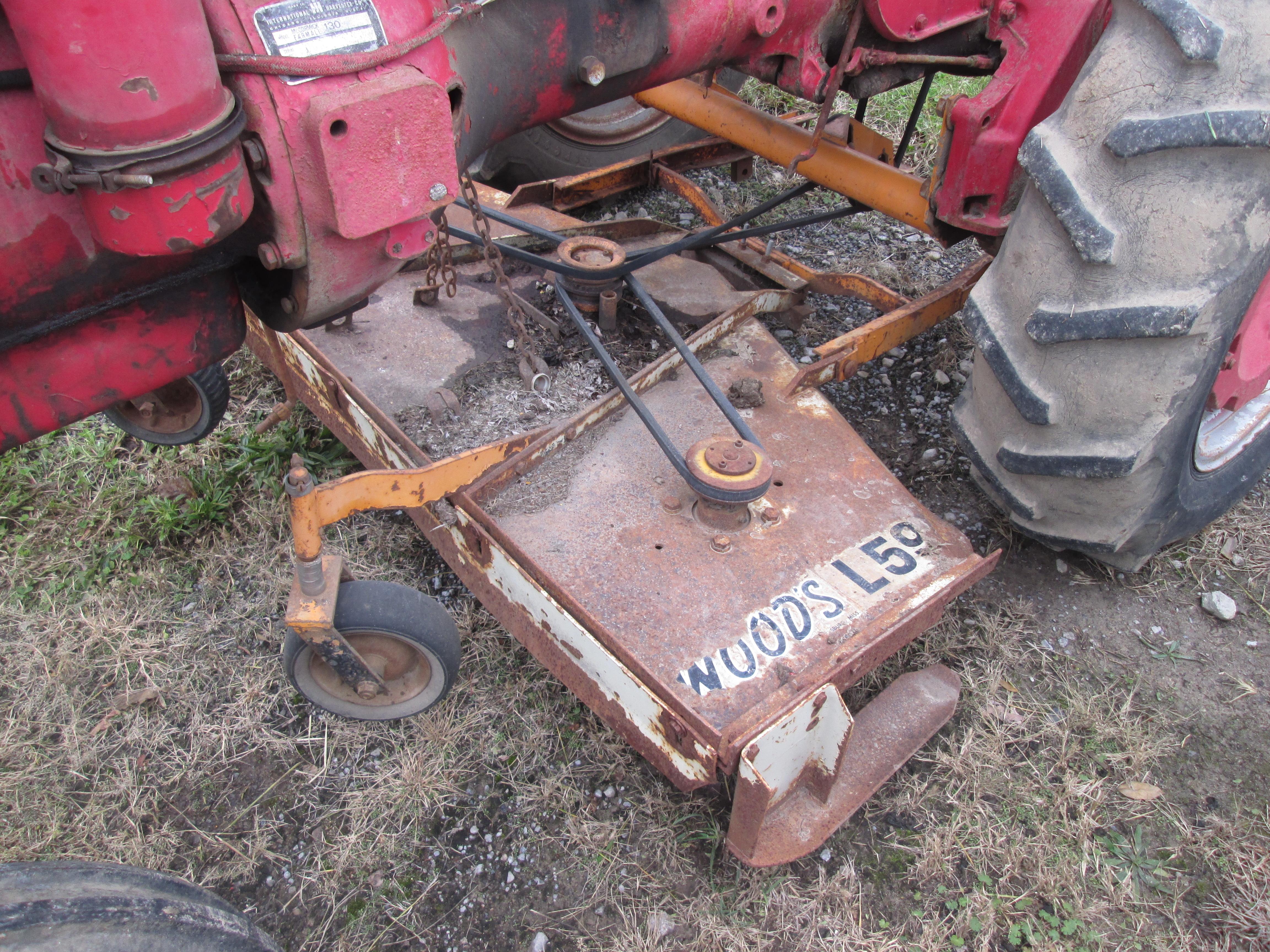 Farmall A, Super A , 100, 130, 140 Woods L59 Finish Mower