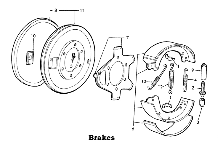 ford brake parts diagram