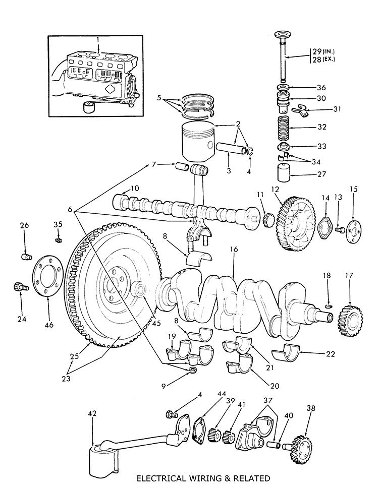 Ford 9n 2n 8n Engine Assy