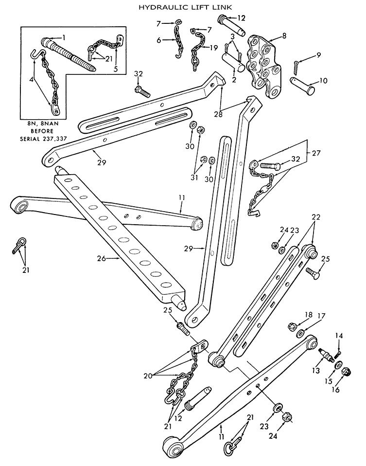 Ford 9n 8n 2n Hydraulic Lift Links  U0026 Related