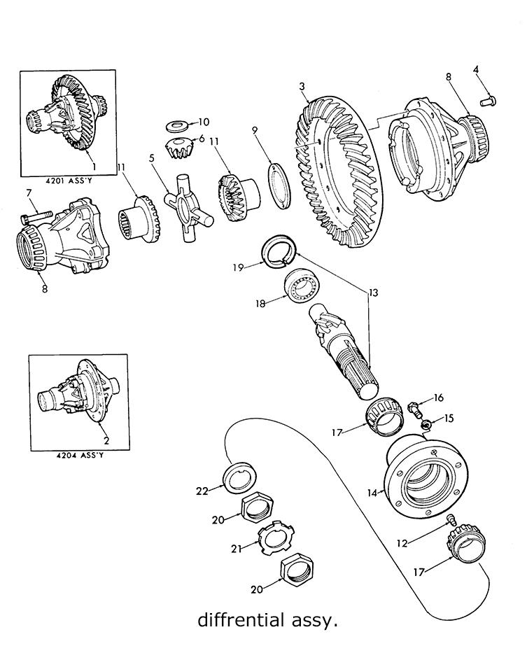 Ford 9n 2n 8n Differential Assy  Drive Gear  U0026 Pinion