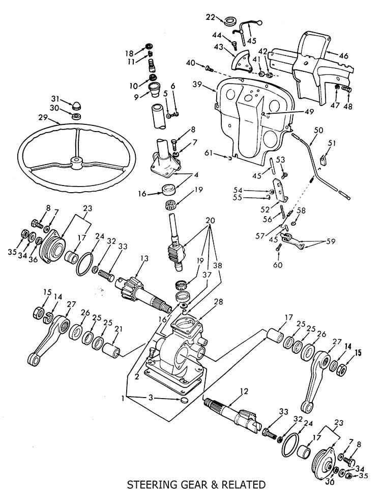 Ford 8n Steering 1950