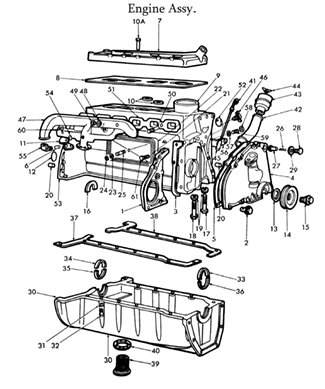 ford 8n engine parts list official ford 302 engine diagram