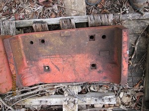 Used Allis Chalmers 190 Front Starter Weight AM 6050