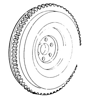 Ford Tractor 2N, 8N and 9N Flywheel Assembly with Timing Mar
