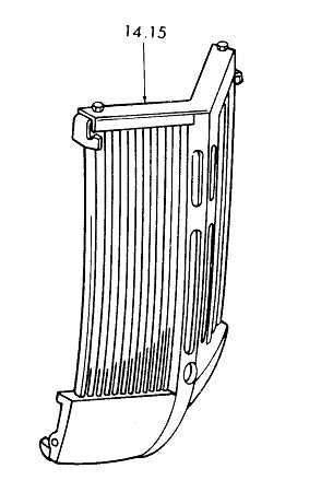 Ford Tractor 9N, 2N and 8N Radiator Grille Assembly