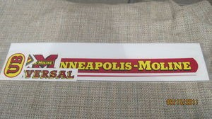 Minneapolis Moline Tractor UB Decal Set